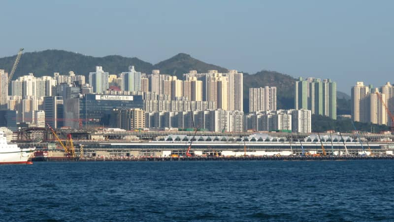 The former airport's runway is now home to Hong Kong's Kai Tak Cruise Terminal.
