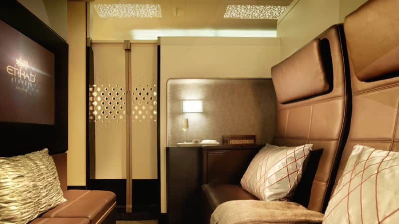 The Residence on Ethiad's upper-deck cabin on the A380.