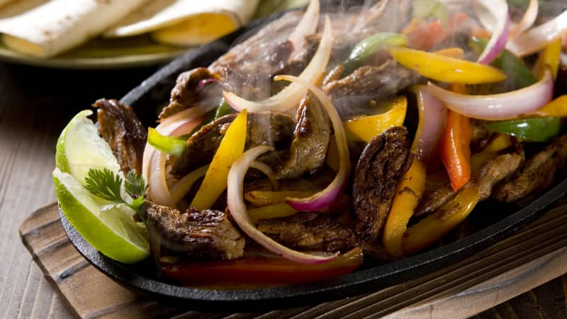 Fajitas: the epitome of Tex-Mex cuisine.