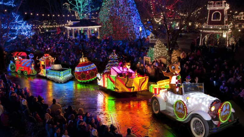 There are more than 6.5 million lights and 1,000 decorated trees at Silver Dollar City.