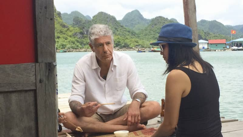 Anthony Bourdain gets to know the locals in Hanoi.
