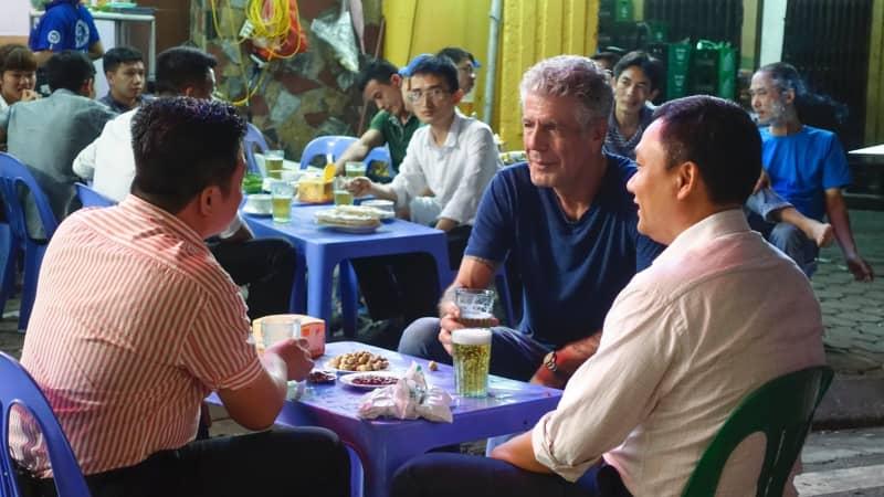 Anthony Bourdain in Hanoi.