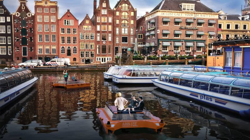 Roboat is a five-year project to develop autonomous ferries for Amsterdam's canals.