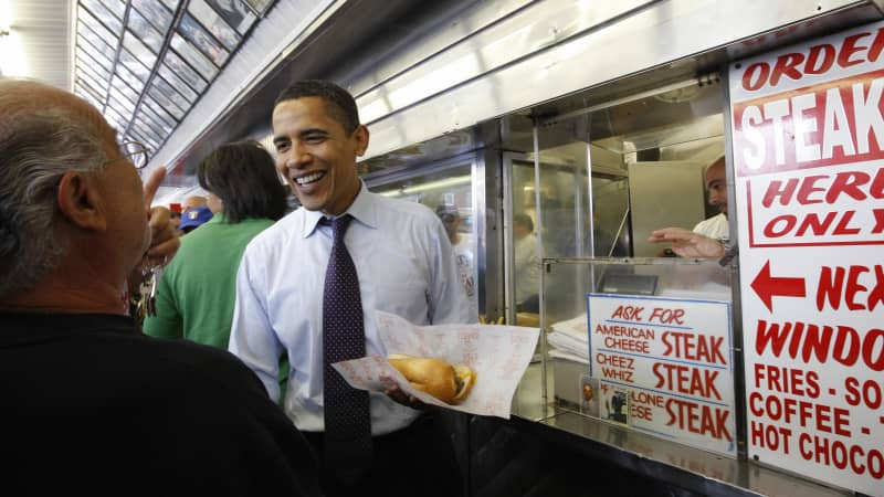 Philly cheese steak has famous fans -- including former President Barack Obama.