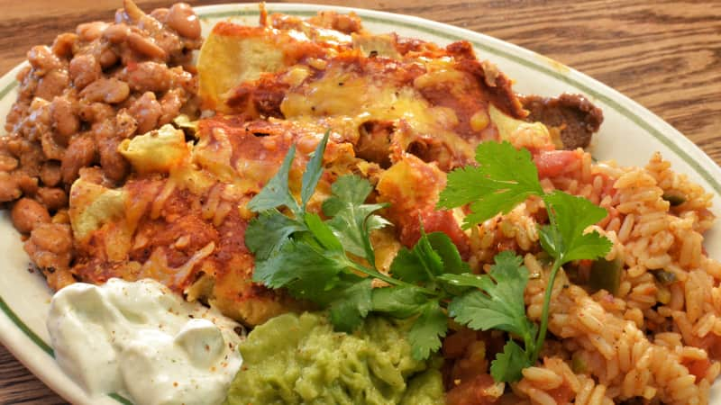 new mexican flat enchiladas