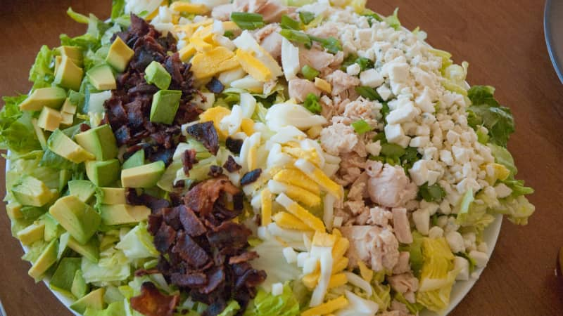 Originally made with leftovers, Cobb salad now one of America's favorite appetizers.