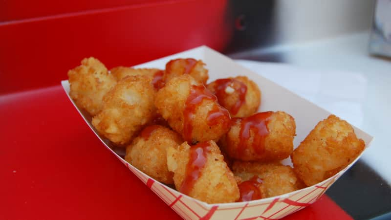 Tater tots are crunchy fried potatoes.