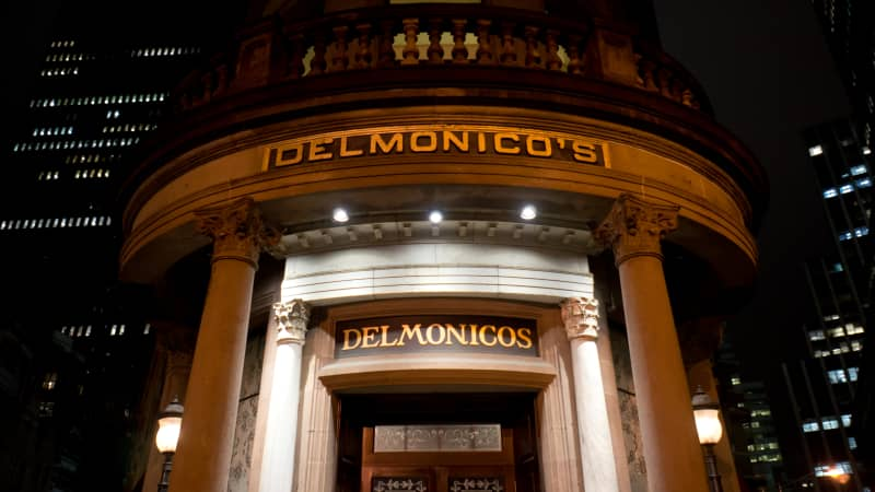 The famous Delmonico's -- where the steak magic happens.