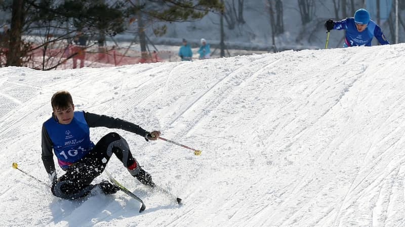 In Korea, you can ski until you drop.