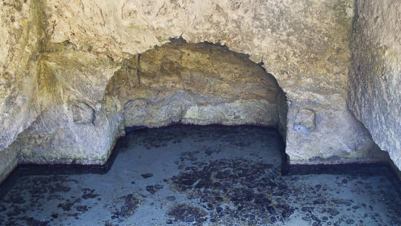 The Roman pool where Anna Fallarino enjoyed swimming nude.