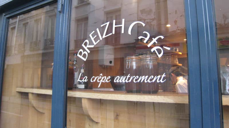 The best spot for an authentic Breton crepe.
