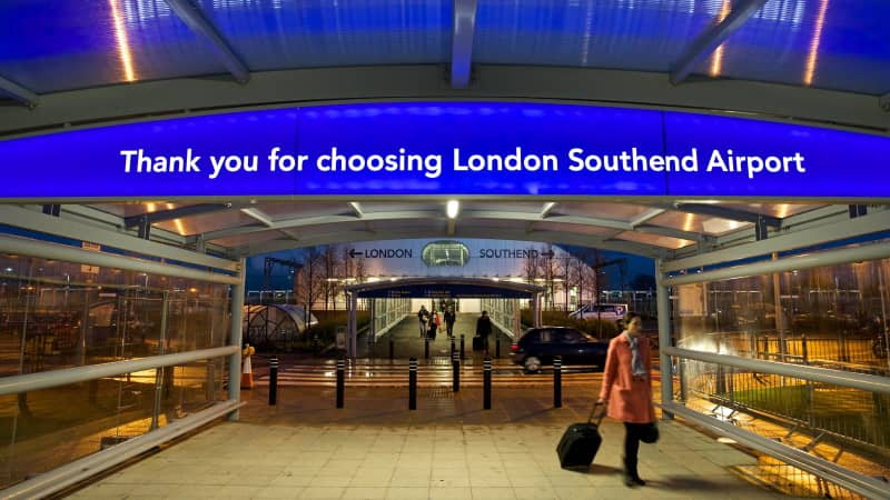 London Southend is actually more than 40 miles from the center of London.