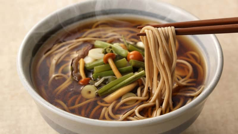 Many Japanese slurp down bowls of delicious Soba noodles to welcome the new year.