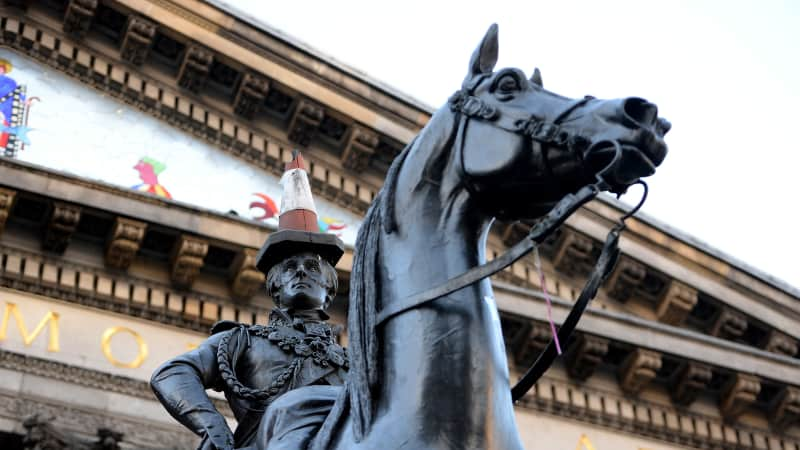 The Duke of Wellington Statue is pictured on November 18, 2013 in Glasgow, Scotland.