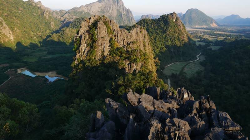 The viewpoint atop Pha Hon Kham Cliff.