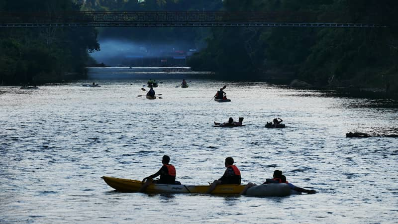 Kayaks provide more freedom to explore the Song River.