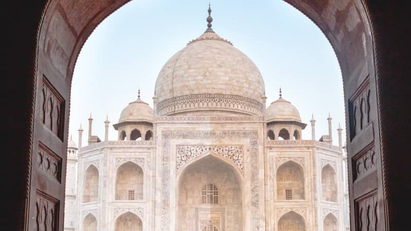 The Taj Mahal is India's most-visited attraction.