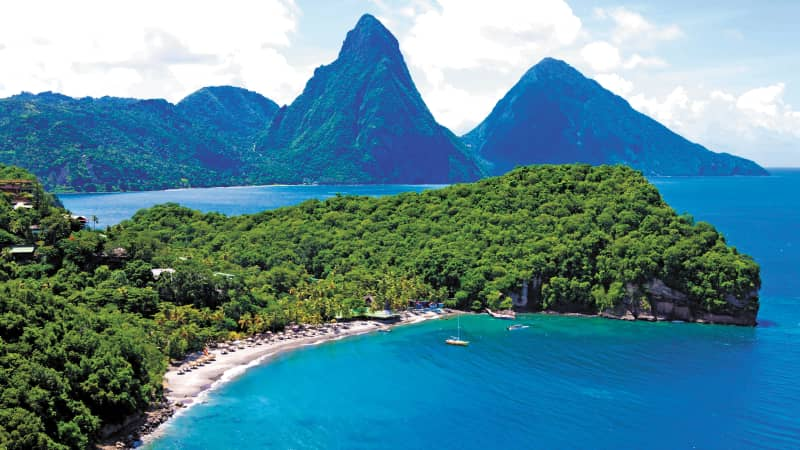 The island of St. Lucia began a phased reopening on June 4.