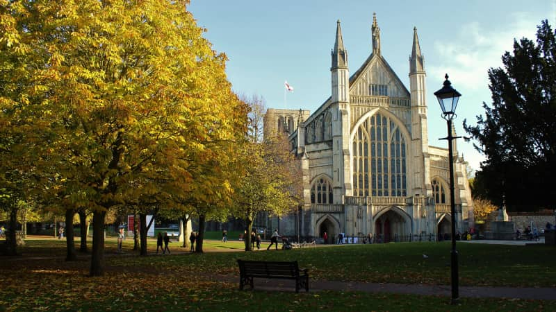Winchester cathedral is the longest of its kind in Europe.