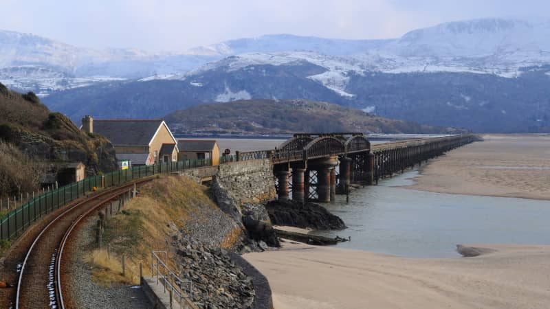 Barmouth in mid-Wales: Great sea views.