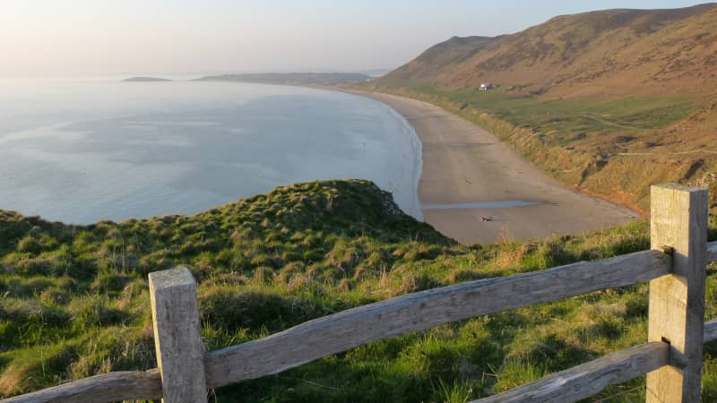 Rhossili Beach: One of Europe's finest stretches of sand.
