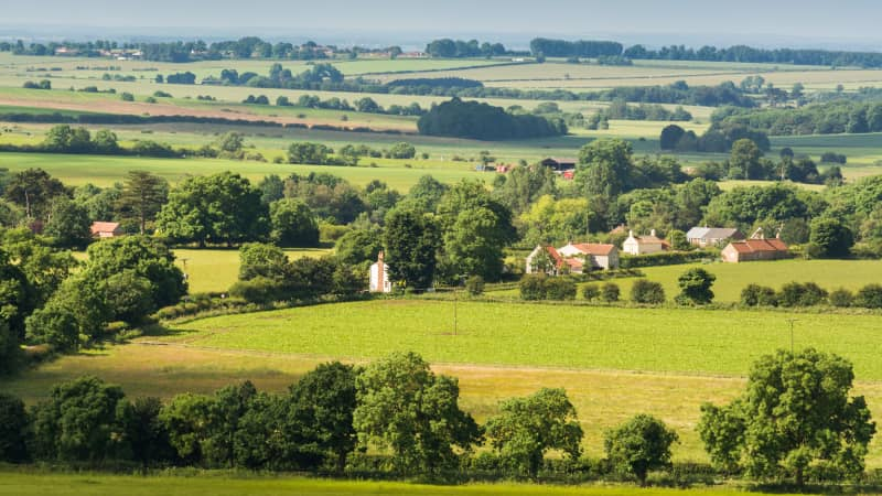 The Lincolnshire Wolds is a protected Area of Outstanding Natural Beauty.