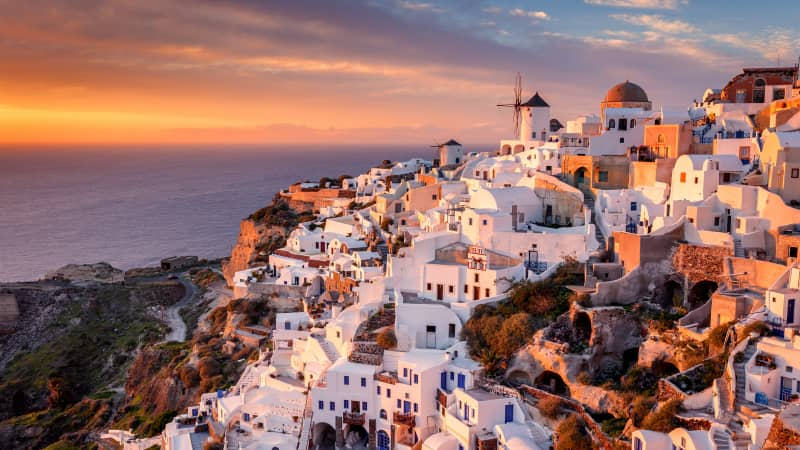 Greece is a rising search term on Google in the UK. And it's open for people there who'd like to visit places in Greece such as Santorini.