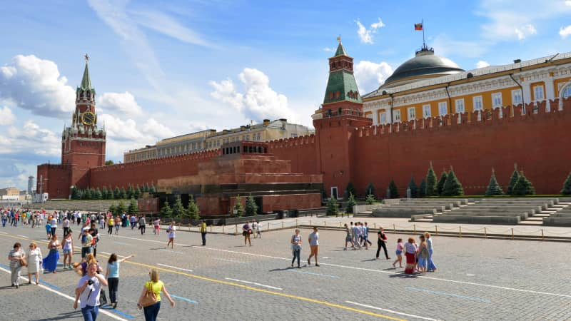 Lenin's Mausoleum: A somber attraction in Red Square.