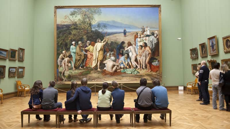 Tretyakov Gallery:  More than 1,300 works of art on display.