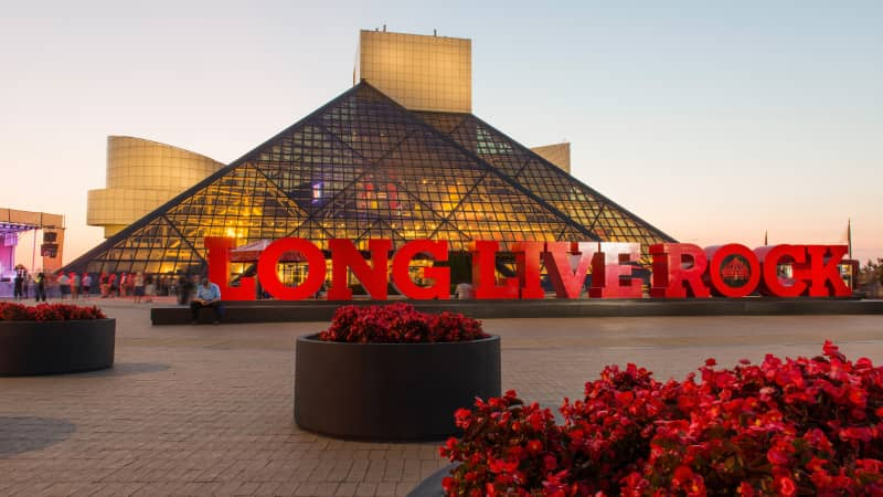 The Rock and Roll Hall of Fame and Museum is in Cleveland.