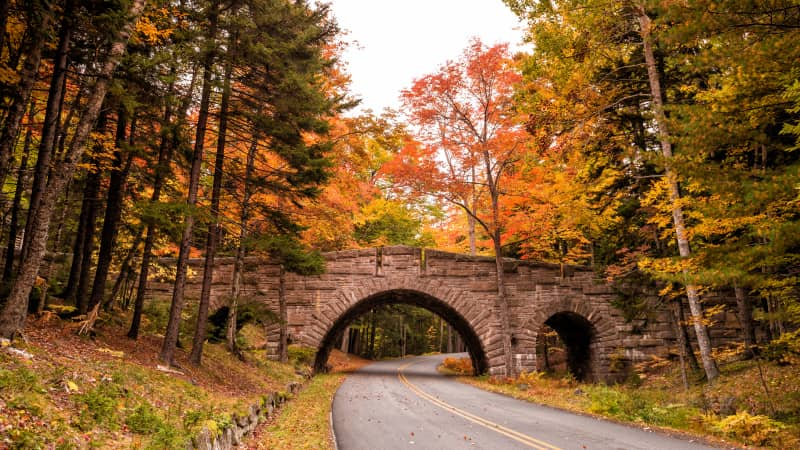 Beautiful fall colors of Acadia National Park in Maine are past their peak, but the state has natural beauty all year.