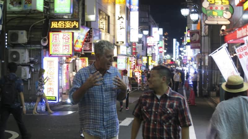 Anthony Bourdain in Tokyo, an episode in Season 2 'Parts Unknown.'