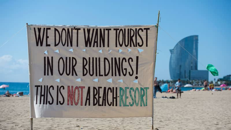 Locals in destinations such as Barcelona and Venice have launched anti-tourism protests.