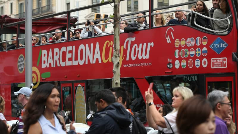 Barcelona is banning hotels in the city center.
