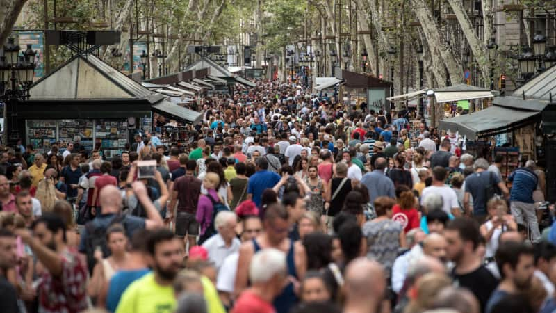 You can barely ramble along Las Ramblas in Barcelona these days.
