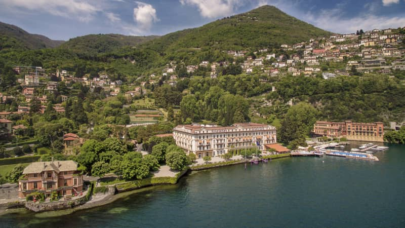 Villa D'Este is set in acres of immaculate gardens.