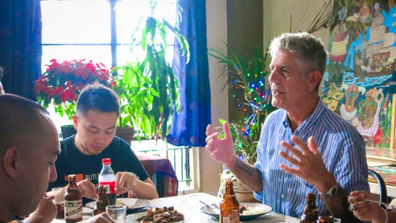 Bourdain's travels led him to peoples' tables, where he could learn about the food and culture of a place.