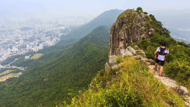 Hong Kong's dramatic Lion Rock.
