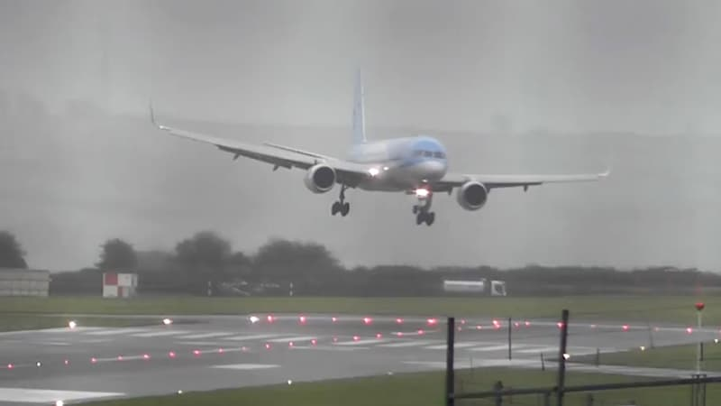 A pilot landing into Bristol Airport in the UK managed to coordinate a sideways landing.