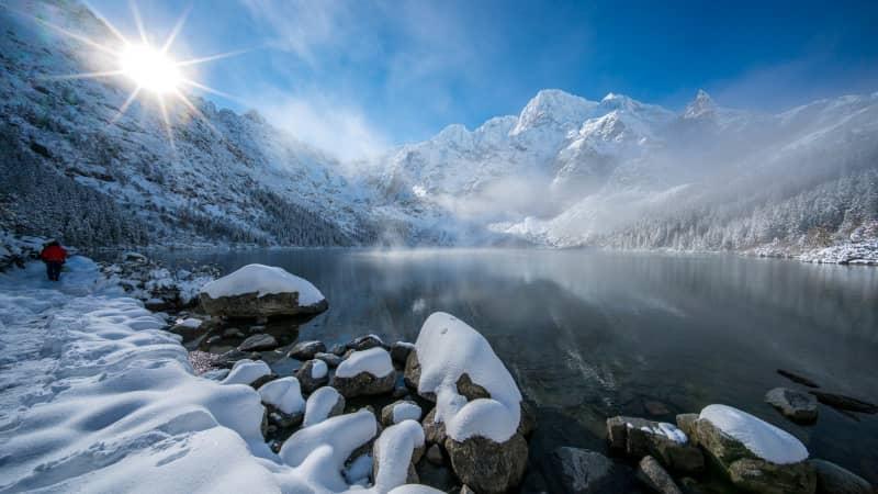 The High Tatra Mountains are a popular ski destination.