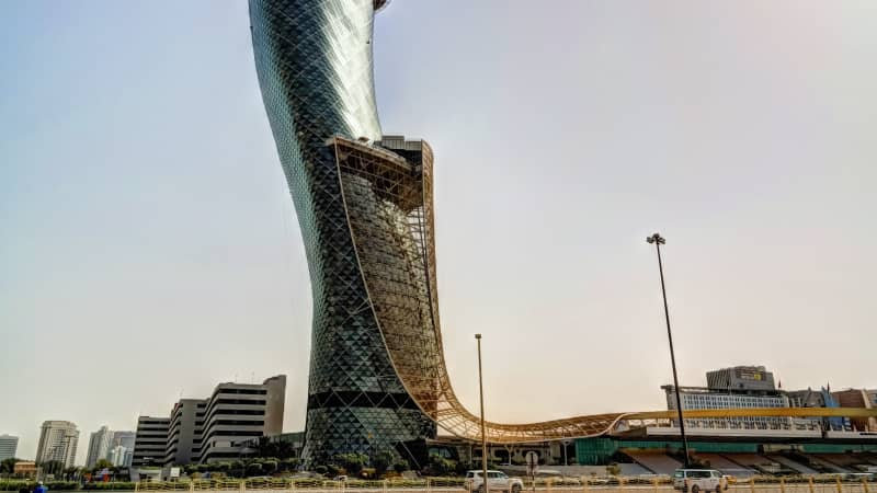 Abu Dhabi's Capital Gate is the world's most leaning tower at 18 degrees to the west -- four times that of Italy's iconic leaning tower of Pisa.