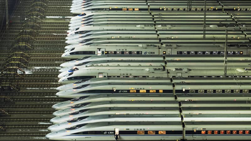 Wuhan's high-speed railway maintenance centre is one of just four in the country.