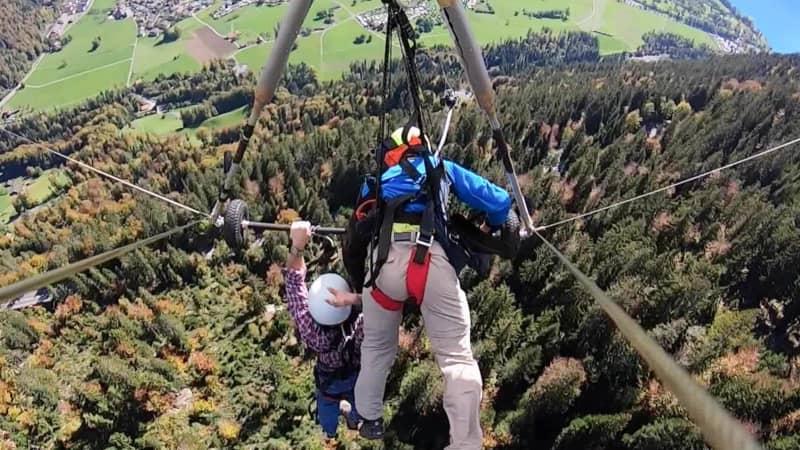 Hang glider flight goes wrong