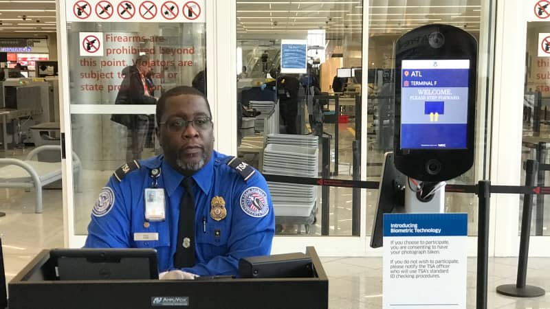 TSA facial recognition screens are now available for biometric ID verification at Atlanta Hartsfield-Jackson International Airport.