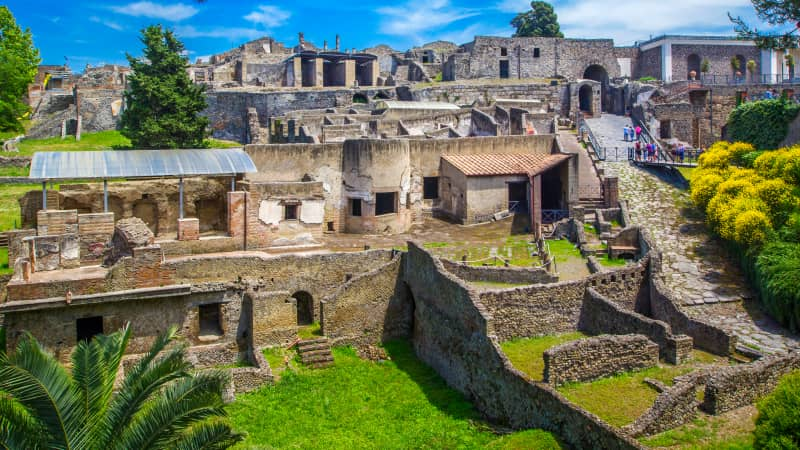 Pompeii: A perfectly preserved ancient city.