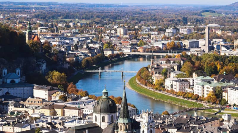 "Salzburg is home to blockbuster Mozart and ""Sound of Music"" tours."