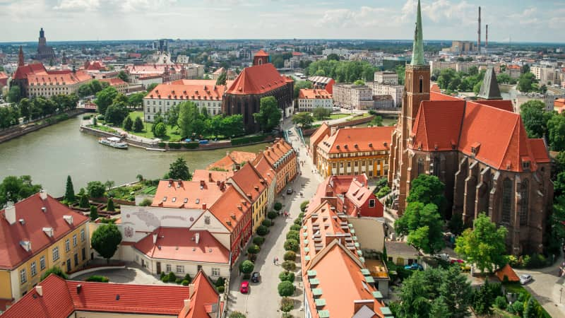 Wroclaw, Poland, boasts superb architecture.