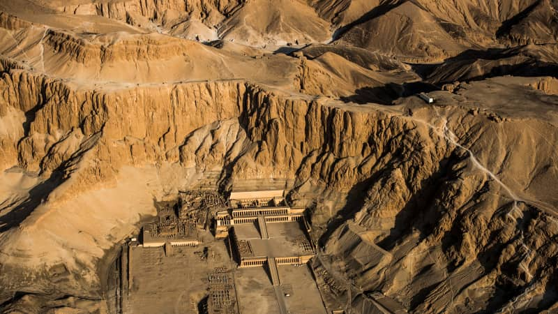 """The Temple of Hatshepsut, also known as the Djeser-Djeseru (""""Holy of Holies"""") is located on the West Bank of Luxor."""