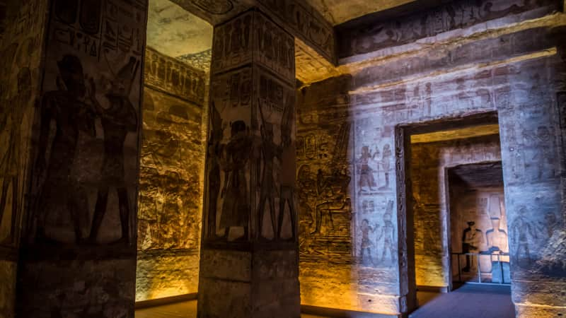 The Ramses II complex at the ancient Egyptian temple of Abu Simbel was rescued by UNESCO from the rising waters of Lake Nasser.