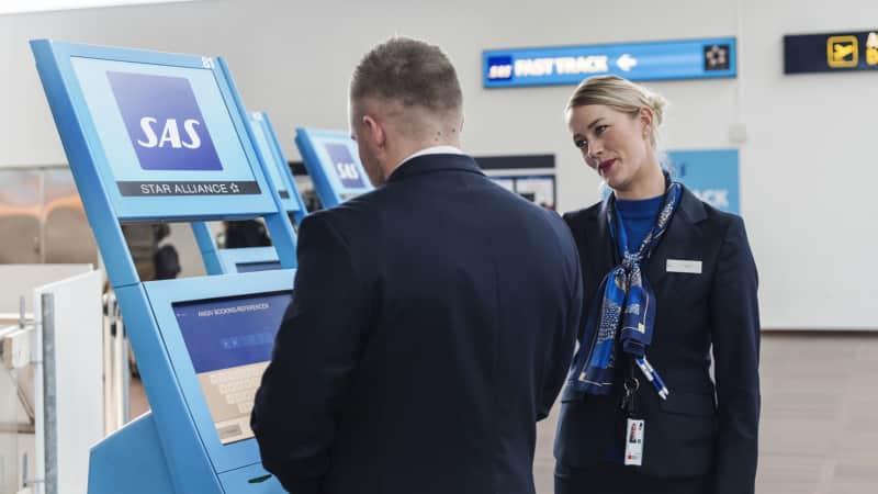 Scandinavian Airlines check-in